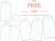 Tag template word and pdf formats available templates make your own custom gift tags with these free printable tag templates negle Images