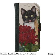 Elvira the Cat, iPhone Wallet case. iPhone 6 Wallet Case