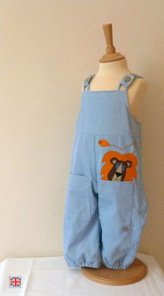 Boys Dungerees There's a Lion in my Pocket by Atticimps on Etsy, £35.00