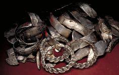 Viking hoard found under the floor of a deserted building in Gotland, Sweden.
