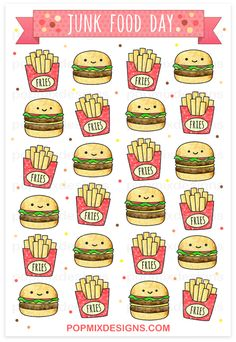 http://popmixdesigns.com/item/burgers-fries-stickers