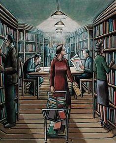 """So perfettamente che non corrisponde a verità ma per me, in biblioteca, l'""""Ufficio acquisti"""" ha tutta l'idilliaca aura di un locus amoenus."""
