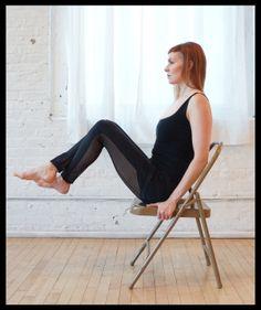 Sadie Nardini's Top 5 Chair Yoga Poses for Strength #yoga #yoganonymous
