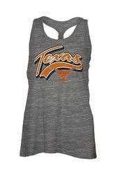 Texas Longhorns Womens Grey Cinch Tank Top
