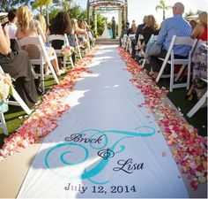 Wedding Aisle Runner Design Custom Logo by ShoweredWithDesign, $74.00