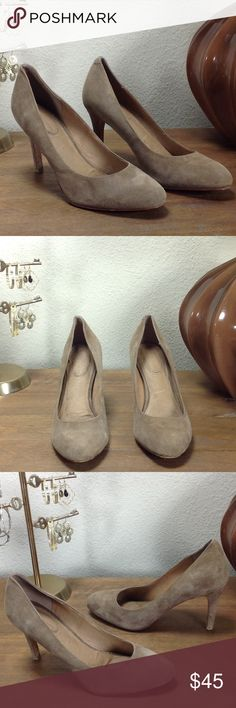 Anthropologie Tan Suede Round Toe Heels Anthropologie brand Corso Como tan suede heels with round toe and 4 inch suede covered heels. Features leather lined cushioned insole that makes these shoes amazingly comfortable. In good condition with some discoloration that is very difficult to see (see pics). Thanks for your interest!  Please checkout the rest of my closet. Anthropologie Shoes Heels