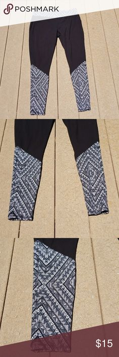 🆕   Simply Emma Black Leggings  NWOT NWOT  Simply Emma black leggings with Aztec design. Very comfortable to wear. Have another pair so I don't need two pairs. In excellent condition and never worn. No flaws or rips.   Comes from a smoke-free home. Simply Emma Pants Leggings