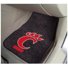 "Cincinnati Bearcats 27""x18"" Auto Floor Mat (Set of 2 Car Mats)"