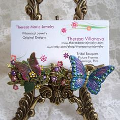 Butterfly Collage Business Card Holder ... by theresamariejewelry, $48.00