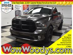"One Owner! This Ram 1500 Sport Regular Cab has a strong RWD 5.7L V8 HEMI engine with top options including Heated Seats, Remote Start, Navigation, 8.4"" Media Center & a Backup Camera! #wowwoodys #ram #ram1500 #trucks #truckdaily #2017trucks #2017ram"
