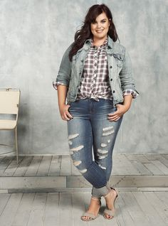 """Trendspotting: Perfect in Plaid  [caption id=""""attachment_235079"""" align=""""aligncenter"""" width=""""800""""]  Feel Free to Pin & Share ♥ The Vintage & Curvy Team[/caption]  Hello Ladies, it's Trendspotting time!   Welcome to our newest segment on VintageandCurvy.com, Trendspotting Wednesdays, where we tell you about the newest trend, coming around the bend. What's this week's Pretty Premonition? Plus Size Plaid Perfection.    What do we love about it?    It's a throwback to the laid back g.."""