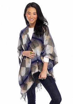Red Camel® Tribal Blanket Poncho