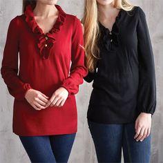 Laura Ruffle Sweater