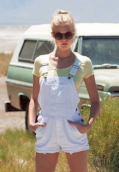 American Apparel - Cotton Twill Short-All #15things #trending #AmericanApparel #overalls #90sforever #style