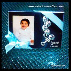detalles de bautizo niño detalls bateig Barcelona marco de fotos