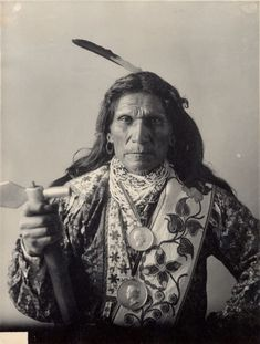 Portrait of Otoe man, (George) Arkeketah, Head Chief. Part of Siouan (Sioux) and Otoe Tribes.