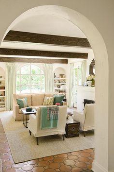 Neutral living rooms w/ aqua