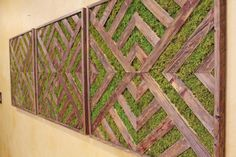 Items similar to Reclaimed Wood & Preserved Moss Triptych Art - Large Wall Decor - Green Wall - Living Wall Art on Etsy Wooden Wall Art, Metal Wall Decor, Wall Art Decor, Triptych Art, Outdoor Wall Art, Moss Wall, Reclaimed Wood Art, Succulent Wall, Art Of Living
