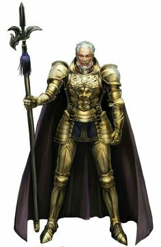 Old Human Fighter Knight - Pathfinder PFRPG DND D&D d20 fantasy