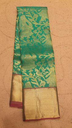 #designer #kanjivaram #silk #saree  in #rexonagreen color