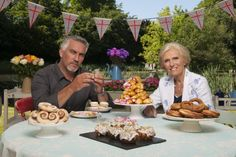 OK, so it is still British food (that cherry cake looked dreadful!), but the British people are lovely and delightful! Thanks to Eliza for turning us onto this great show.