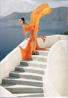orange blowing in the wind