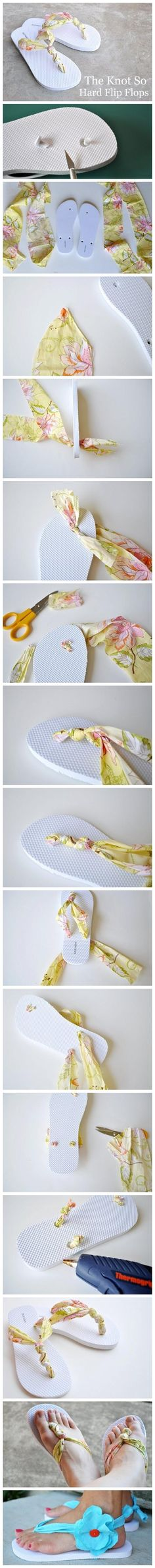 Think I'll do this to my cheapy Old Navy flip-flops to make them more comfortable...