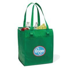 """- Large, reusable insulated tote for keeping your perishables cold - Large main compartment with zippered closure and generous gusset for maximum capacity - Large front pocket for storing additional items - Pen loops (pen not included) - 26"""" shoulder straps and removable floor board"""