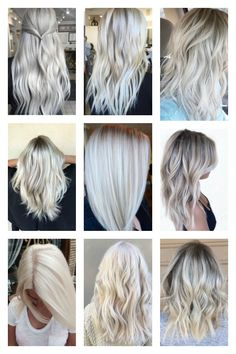 Hair Color Ideas: 50 Shades Of Blonde hair color shades, Blonde Hair Shades, Honey Blonde Hair, Hair Color Shades, Platinum Blonde Hair, Ombre Hair Color, Cool Hair Color, 50 Shades, Hair Colour, Blond Ombre