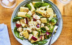 Salade de pâtes au poulet grillé et aux pommes – Savourer par Geneviève O'Gleman Pasta Salat, Cobb Salad, Salsa, Chicken Recipes, Bbq, Yummy Food, Lunch, Healthy Recipes, Healthy Food