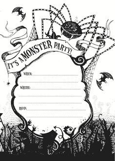 Free Halloween Party Invitation Printables , Devil, Free Halloween ...