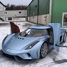 Blue wonder, Koenigsegg Regera out on a cold cold day in Sweden. 1500 hp and direct drive. Koenigsegg, Supercars, Lamborghini, Ferrari 458, Automobile, Volvo, Porsche 911, Car Racer, Mc Laren