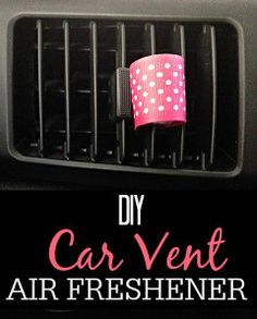 Tired of a stinky car? Try this easy car vent air freshener using essential oils. It's so simple and makes the car smell great.