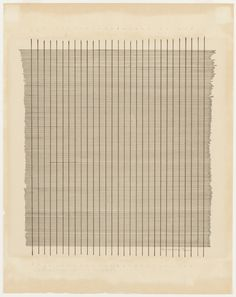 Ink on paper. 10 x x 28 cm). The Riklis Collection of McCrory Corporation. © 2016 Estate of Agnes Martin / Artists Rights Society (ARS), New York. Drawings and Prints Contemporary Abstract Art, Contemporary Artists, Agnes Martin, Textiles, Online Painting, Hanging Art, Art History, Painting & Drawing, Art Gallery