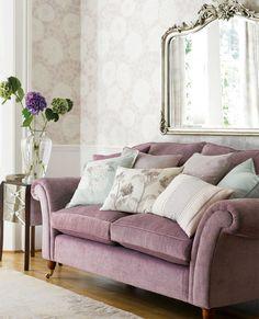 Althea Silk Amethyst Cushion | Laura Ashley