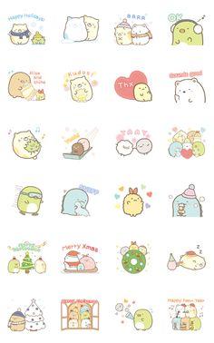 Sumikko Gurashi Winter Stickers Sticker for LINE, WhatsApp, Telegram — Android, iPhone iOS Cute Bear Drawings, Cute Animal Drawings Kawaii, Cartoon Stickers, Kawaii Stickers, Kawaii Doodles, Cute Doodles, Sumiko Gurashi, Cute Laptop Stickers, Cute Cartoon Characters