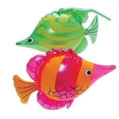 Set of 6 Bright, Colorful Tropical Fish Inflates / 24' /Party/Decor/Pool Toy/Gift/Inflatable *** Visit the image link more details. (It is Amazon affiliate link) #tagblender