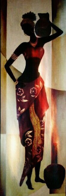 Discover recipes, home ideas, style inspiration and other ideas to try. African Theme, African Girl, African American Art, African Beauty, African Women, African Fashion, Black Women Art, Black Art, African Art Paintings