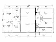 Проект Дом 8х15.5: фото и планировка - цены на строительтво дома в Тульской области под ключ, недорого