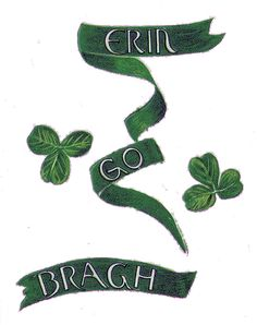 Vintage Clip Art - St. Patrick's Day Postcard - The Graphics Fairy