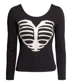 H&M skeleton crop top