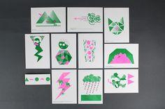 Risograph series on Behance