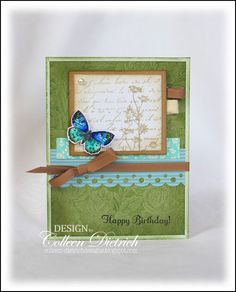 lovely card with the beautiful colorful butterfly