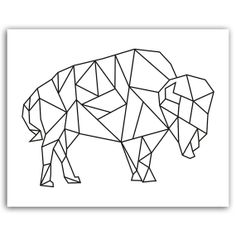 Geometric bison instant download digital print by PrintitFrameit, $5.00