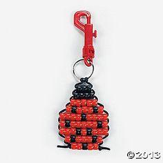 Pony Bead Ladybug Key Chain Craft Kit
