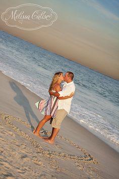 Melissa Calise Photography (Save The Date Engagement Photoshoot Ideas E-Pics Beach Sunset)