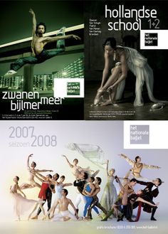posters for the dutch national ballet by martin pyper, via Behance Ballet Posters, Dance Photography, Advertising Campaign, Art Direction, Holland, Dutch, Competition, Places To Visit, Typography