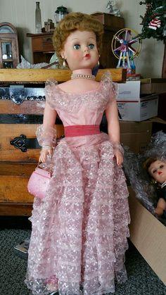 vintage doll sweet rosemary large bridal doll vinyl w/ original box