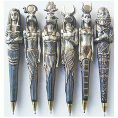 Unusual Pens   Home > Pens Egyptian - Set of 6 Unique Designs
