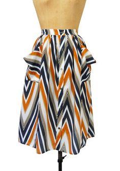 Zig Zag Print Skirt.